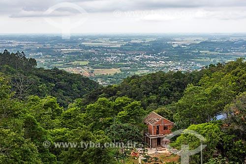 Vista da cidade de Praia Grande a partir da Serra do Faxinal  - Praia Grande - Santa Catarina (SC) - Brasil