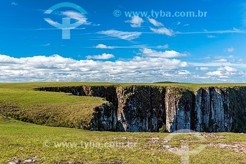 Vista do Cânion Montenegro entre as cidades de São José dos Ausentes e Bom Jardim da Serra  - São José dos Ausentes - Rio Grande do Sul (RS) - Brasil