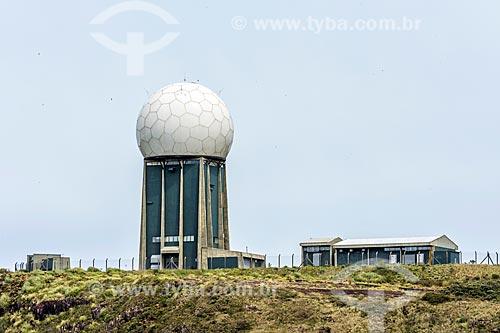 Vista do Centro Integrado de Defesa Aérea e Controle de Tráfego Aéreo (CINDACTA) no Morro da Igreja - Parque Nacional de São Joaquim  - Urubici - Santa Catarina (SC) - Brasil