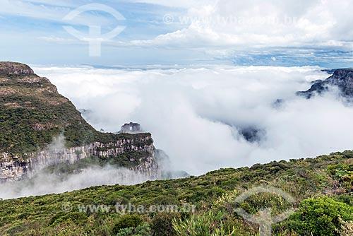 Vista do cume do Morro da Igreja no Parque Nacional de São Joaquim  - Urubici - Santa Catarina (SC) - Brasil