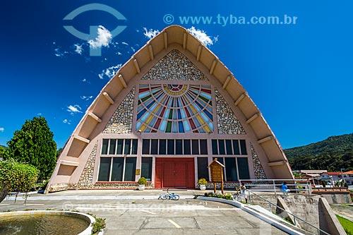 Fachada da Igreja Matriz de Nossa Senhora Mãe dos Homens  - Urubici - Santa Catarina (SC) - Brasil