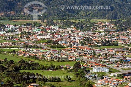 Vista geral da cidade de Urubici a partir do Mirante Urubici  - Urubici - Santa Catarina (SC) - Brasil