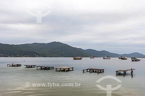 Vista da Lagoa da Conceição a partir da Avenida das Rendeiras  - Florianópolis - Santa Catarina (SC) - Brasil