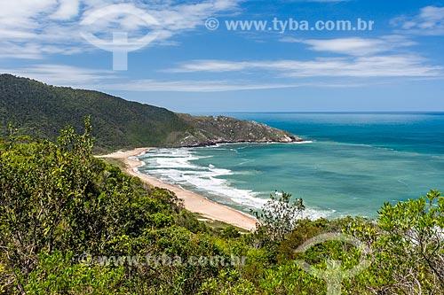 Vista da orla da Praia da Lagoinha do Leste no Parque Municipal da Lagoinha do Leste  - Florianópolis - Santa Catarina (SC) - Brasil