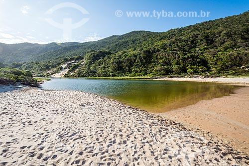 Foz de rio na Praia da Lagoinha do Leste - Parque Municipal da Lagoinha do Leste  - Florianópolis - Santa Catarina (SC) - Brasil