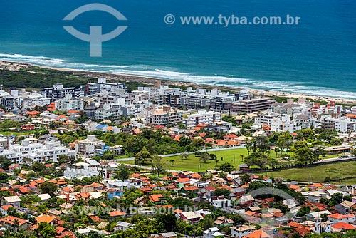 Vista da Praia do Campeche a partir do Morro do Lampião  - Florianópolis - Santa Catarina (SC) - Brasil