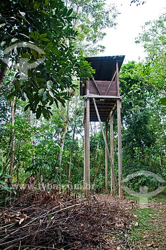 Posto de observação na Reserva Ecológica de Guapiaçu  - Cachoeiras de Macacu - Rio de Janeiro (RJ) - Brasil