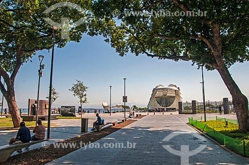 Vista da Praça Mauá com o Museu do Amanhã ao fundo  - Rio de Janeiro - Rio de Janeiro (RJ) - Brasil