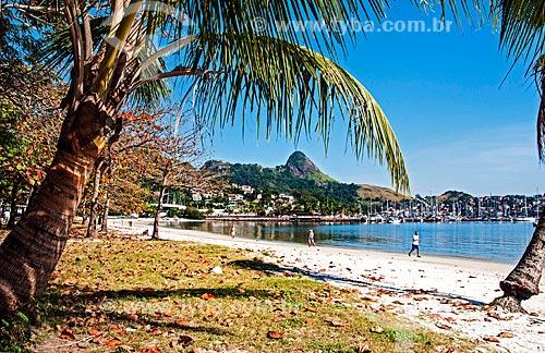 Vista da orla da Praia de Charitas  - Niterói - Rio de Janeiro (RJ) - Brasil