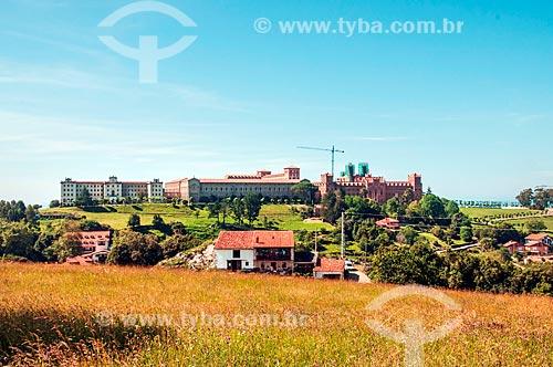 Vista da Pontifícia Universidade Católica - Comillas  - Comillas - Província de Cantábria - Espanha