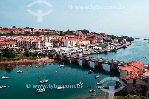 Vista da cidade de San Vicente de la Barquera  - San Vicente de la Barquera - Província de Cantábria - Espanha
