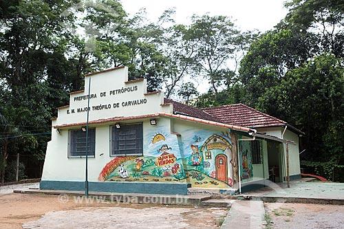 Fachada da Escola Municipal Major Theófilo de Carvalho  - Petrópolis - Rio de Janeiro (RJ) - Brasil