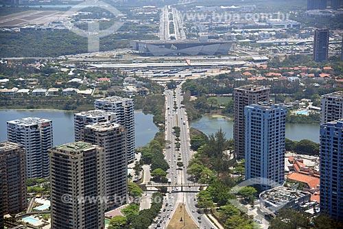 Foto aérea da Avenida Ayrton Senna  - Rio de Janeiro - Rio de Janeiro (RJ) - Brasil