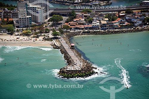 Foto aérea do píer da Barra  - Rio de Janeiro - Rio de Janeiro (RJ) - Brasil