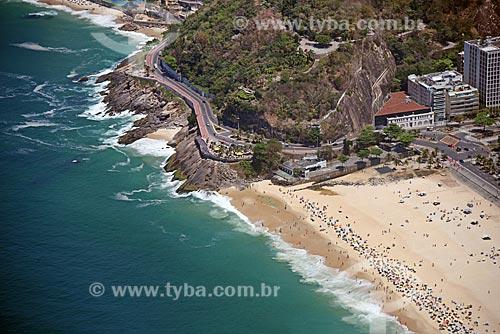 Foto aérea do Mirante do Leblon e do Mirante do Sétimo Céu  - Rio de Janeiro - Rio de Janeiro (RJ) - Brasil