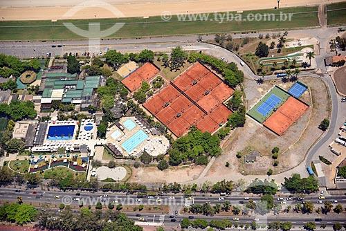 Foto aérea do clube do Hipódromo da Gávea  - Rio de Janeiro - Rio de Janeiro (RJ) - Brasil