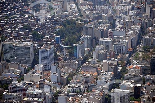 Foto aérea do Complexo Rubem Braga com o Morro do Cantagalo  - Rio de Janeiro - Rio de Janeiro (RJ) - Brasil