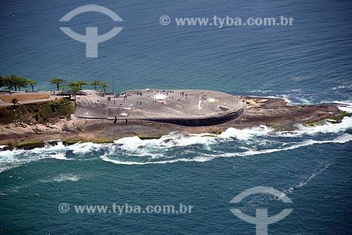 Foto aérea do antigo Forte de Copacabana (1914-1987), atual Museu Histórico do Exército  - Rio de Janeiro - Rio de Janeiro (RJ) - Brasil