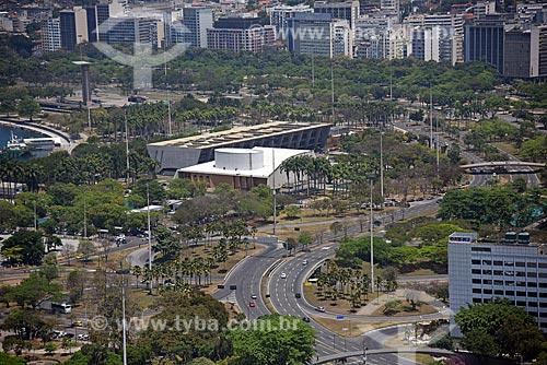 Foto aérea do Vivo Rio e do Museu de Arte Moderna do Rio de Janeiro  - Rio de Janeiro - Rio de Janeiro (RJ) - Brasil