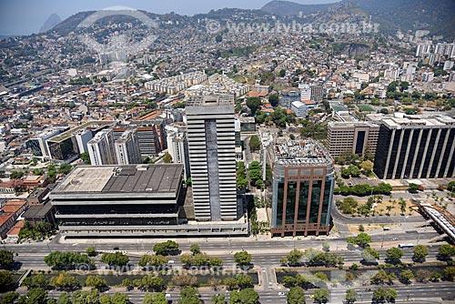 Foto aérea do Centro de Tratamento de Cartas dos Correios - CTC Cidade Nova - e do Teleporto do Rio de Janeiro  - Rio de Janeiro - Rio de Janeiro (RJ) - Brasil