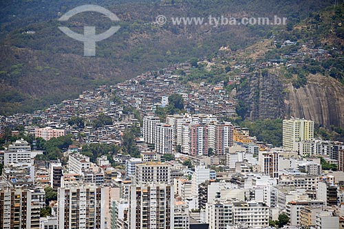 Foto aérea de prédios no bairro da Tijuca  - Rio de Janeiro - Rio de Janeiro (RJ) - Brasil
