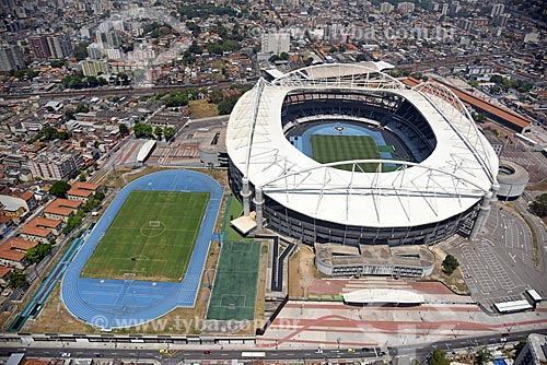Foto aérea do Estádio Nilton Santos (2007)  - Rio de Janeiro - Rio de Janeiro (RJ) - Brasil