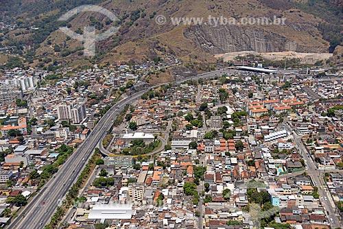 Foto aérea de trecho da Linha Amarela próximo ao bairro de Água Santa  - Rio de Janeiro - Rio de Janeiro (RJ) - Brasil