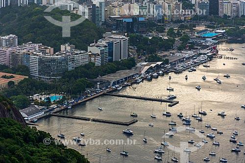 Vista da Iate Clube do Rio de Janeiro a partir do Morro da Urca  - Rio de Janeiro - Rio de Janeiro (RJ) - Brasil