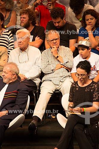 Luiz Carlos Barreto durante o encontro de intelectuais e artistas no Teatro Oi Casa Grande - Campanha Eleição sem Lula é fraude  - Rio de Janeiro - Rio de Janeiro (RJ) - Brasil