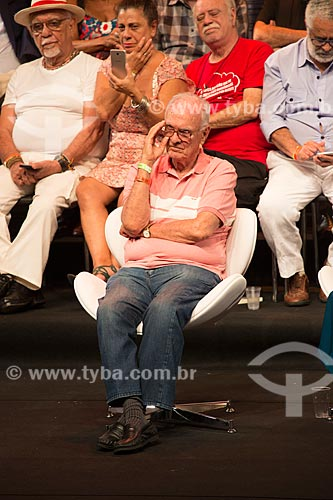 Saturnino Braga durante o encontro de intelectuais e artistas com Luiz Inácio Lula da Silva no Teatro Oi Casa Grande - Campanha Eleição sem Lula é fraude  - Rio de Janeiro - Rio de Janeiro (RJ) - Brasil