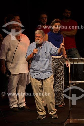 Celso Amorim durante o encontro de intelectuais e artistas com Luiz Inácio Lula da Silva - Campanha Eleição sem Lula é fraude  - Rio de Janeiro - Rio de Janeiro (RJ) - Brasil