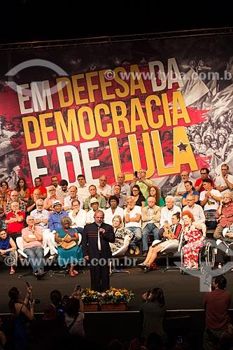 Discurso do ex-presidente Luiz Inácio Lula da Silva durante o encontro de intelectuais e artistas no Teatro Oi Casa Grande - Campanha Eleição sem Lula é fraude  - Rio de Janeiro - Rio de Janeiro (RJ) - Brasil