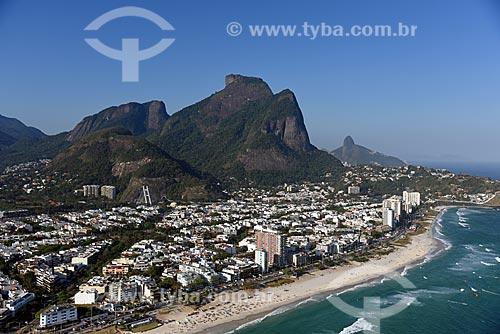 Foto aérea do Jardim Oceânico com a Pedra da Gávea ao fundo  - Rio de Janeiro - Rio de Janeiro (RJ) - Brasil