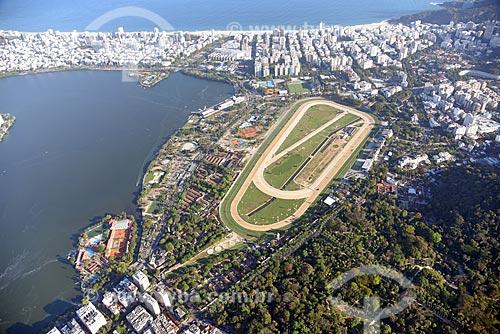 Foto aérea do Hipódromo da Gávea  - Rio de Janeiro - Rio de Janeiro (RJ) - Brasil