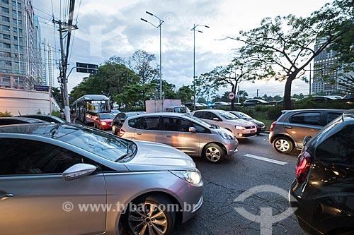 Congestionamento na Avenida das Nações Unidas durante o horário de pico  - São Paulo - São Paulo (SP) - Brasil