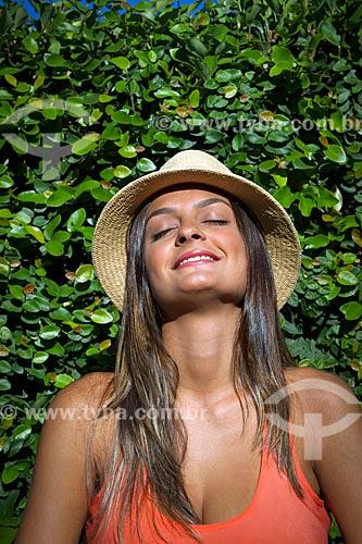 Detalhe de jovem mulher  - Guarani - Minas Gerais (MG) - Brasil