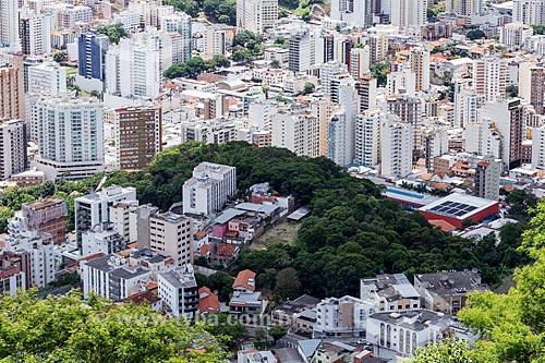 Vista do Colégio dos Jesuítas a partir do Mirante Salles de Oliveira - mais conhecido como Mirante do Cristo  - Juiz de Fora - Minas Gerais (MG) - Brasil