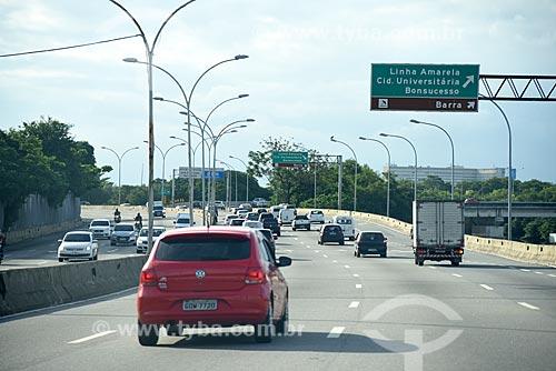 Vista do tráfego na Linha Vermelha  - Rio de Janeiro - Rio de Janeiro (RJ) - Brasil