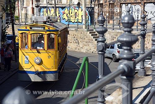 Bonde de Santa Teresa próximo ao Largo dos Guimarães  - Rio de Janeiro - Rio de Janeiro (RJ) - Brasil