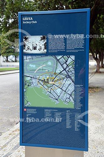 Detalhe de painel de informação turística  - Rio de Janeiro - Rio de Janeiro (RJ) - Brasil