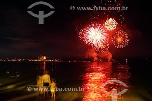 Queima de fogos na Praia de Copacabana durante o réveillon 2018  - Rio de Janeiro - Rio de Janeiro (RJ) - Brasil