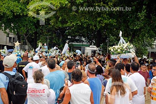 Festa de Yemanjá na Praia de Copacabana - Posto 4  - Rio de Janeiro - Rio de Janeiro (RJ) - Brasil