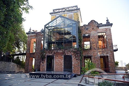 Sede do Centro Cultural Municipal Parque das Ruínas - construído a partir das ruínas da casa de Laurinda Santos Lobo, grande mecenas da Belle Époque carioca  - Rio de Janeiro - Rio de Janeiro (RJ) - Brasil