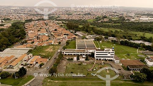 Foto feita com drone da estação de tratamento de água da cidade de Limeira  - Limeira - São Paulo (SP) - Brasil