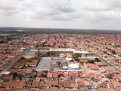 Foto feita com drone da estação de tratamento de esgoto da cidade de Paço do Lumiar  - Paço do Lumiar - Maranhão (MA) - Brasil