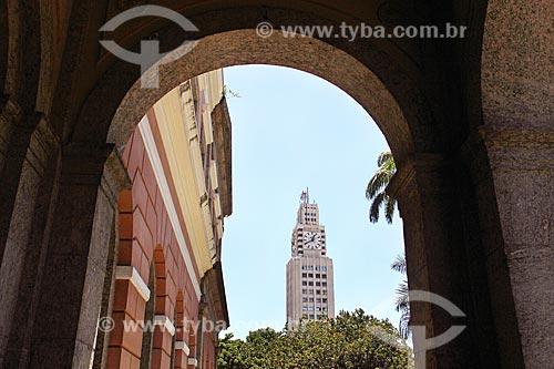 Vista da torre do relógio da Central do Brasil a partir do Arquivo Nacional  - Rio de Janeiro - Rio de Janeiro (RJ) - Brasil
