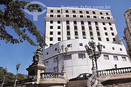 Fachada do Glória Palace Hotel (1922) com reforma inacabada  - Rio de Janeiro - Rio de Janeiro (RJ) - Brasil