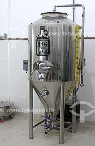 Tanque de fermentação da Cervejaria Odin  - Petrópolis - Rio de Janeiro (RJ) - Brasil