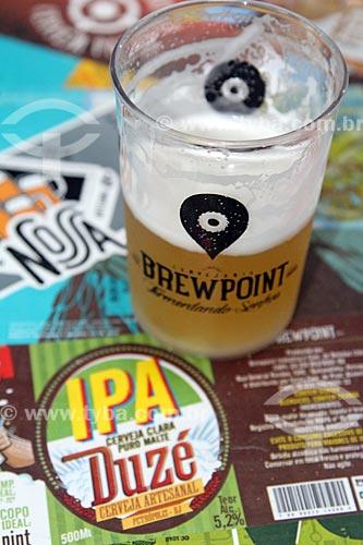 Copo de cerveja artesanal produzido pela Cervejaria Brewpoint  - Petrópolis - Rio de Janeiro (RJ) - Brasil