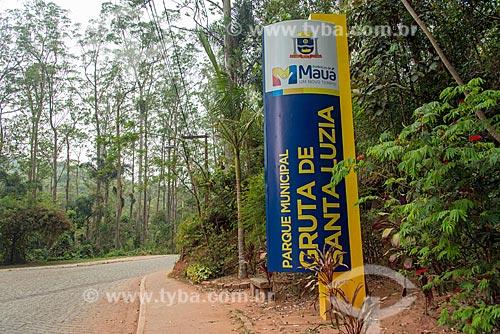 Placa no Parque Ecológico Gruta Santa Luzia  - Mauá - São Paulo (SP) - Brasil